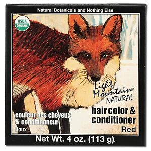 Light Mountain Natural Hair Color And Conditioner Red - 4 Fl Oz