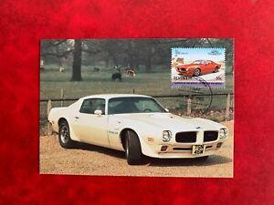 ST VINCENT 1985 PHQ MAXI CARD PHQ CLASSIC CARS PONTIAC FIREBIRD