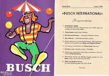 Circus Busch International Zirkus Programm von 1973