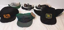 Vintage With Tags Baseball Cap John Deere Large Lot Snap Back VTG Ear Flap Hat