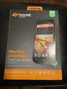 ZTE Warp Sync N9515 - 8GB - Black (Boost Mobile) Smartphone