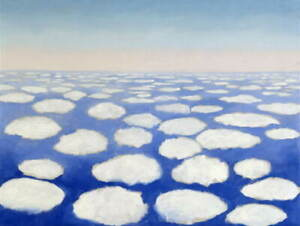 Georgia O'Keeffe Above the Clouds I Poster Reproduction Giclee Canvas Print