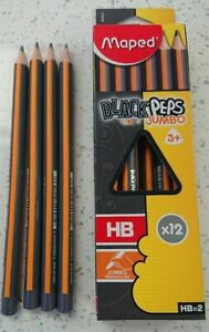 Maped Black Peps Jumbo Pencils Triangular Ideal for Dyspraxia, Dyslexia Pack 4