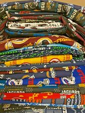 NFL COTTON Fabric 1/4 yard piece, 9 inches X 58 inches -Choose your team