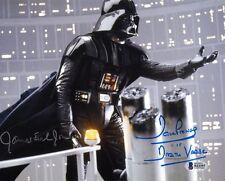 DAVE PROWSE & JAMES EARL JONES SIGNED 8x10 PHOTO VADER STAR WARS BECKETT BAS