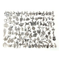 Wholesale 100pcs Bulk Lots Tibetan Silver Mix Charm Pendants Jewelry DIY UD