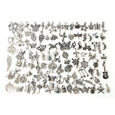 Wholesale 100pcs Bulk Lots Tibetan Silver Mix Charm Pendants Jewelry DIY ;