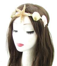 Véritable étoile de mer sea shell bandeau or crème mermaid costume fancy dress boho 631