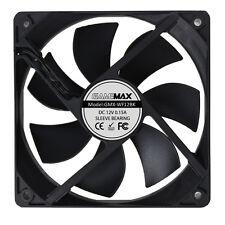 GameMAX 120mm 12CM Black Case Fan PC 3 and 4 Pin Molex Computer Desktop Cooling