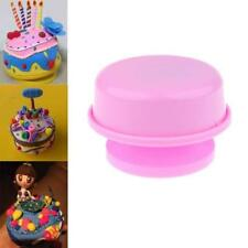 Pink Plastic DIY Round Rotating Music Box Base Wedding Xmas Birthday Gifts
