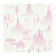 Disney Princess Scenic Toile In Pink Sure Strip Wallpaper DK5986