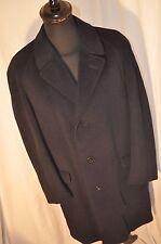 "Vintage Burton tailored by Junex Navy Blue overcoat size XL 46"" made Sweden"