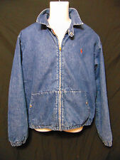 Polo Ralph Lauren Vintage 80's Mens Lined Jean Coat/Jacket Medium Full Zip Usa