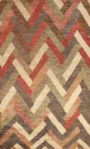 Geometric Modern Moroccan Handmade Oriental Area Rug Indoor/ Outdoor Carpet 8x12