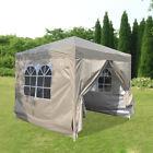 2.5x2.5m Outdoor Pop Up Gazebo Marquee Garden Party Tent Canopy w/ 4 Sidewalls