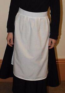 Viktorianisch/Edwardianisch weiß Dienstmädchen Schürze Kostüm Dress.Childs/