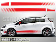 Fiat Punto side racing stripes 019 decals graphics stickers Abarth style