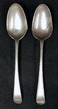 2 Antique American Coin Silver Spoons by DAVID VINTON 1774-1833