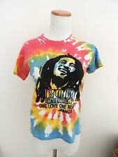 Vintage Bob Marley Tie Dye Jamaica One Love Fitted Shirt Size Kids XL / Adult XS