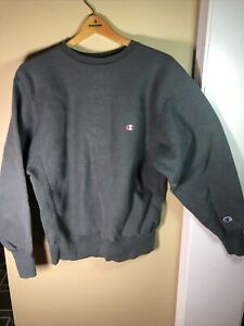 Vintage 80s Champion Reverse Weave Gray Sweatshirt 90s Blank Crew Neck