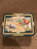 Vintage OLD TIME BASEBALL Tin Can empty Old Time Baseball Excellent Condition