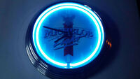 Michelob Light Neon Clock - Vintage - Rare - Great Condition! 15 Inch Diameter