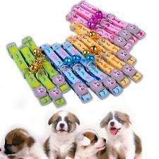 12x Puppy Cat Kitten Collar Necklace Bell Pet Dog Safety Buckle Strap Adjustable