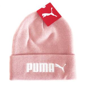 PUMA Bridal Rose Pink Beanie Bobble Hat Cap Womens Adults One Size