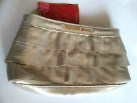 Victoria's Secret Gold Shimmer Clutch Makeup Travel Bag Handbag Amber Romance