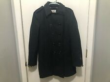 Bar Iii Double Breasted Wool Blend Pea Coat Epaulette Shoulders Charcoal Gray