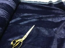 NEW Navy Striped Velvet Finish Thick Coats/Cushions/Crafts Upholstery
