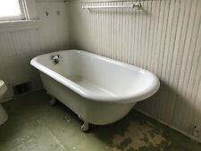 clawfoot antique vintage cast iron porcelain bath tub bathtub
