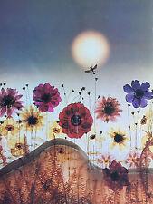 Carte Postale Géante   SAM  HASKINS   Femme  Woman  Fleurs   Format 24x32cm