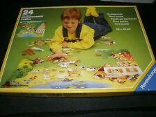 RAVENSBURGER 24 PIECE PUZZLE AT THE FARM / 1989 WEST GERMANY 054138