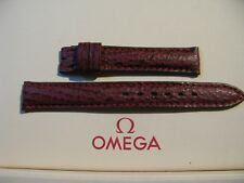 NOS Omega 13mm Dark Red Padded Sharkskin Watch Strap - STUNNING