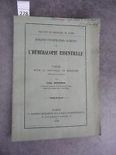 Léon Rousset L'héméralopie essentielle Monoyer ophtalmologie optique médecine