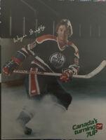 1980-81 7up NHL Poster Wayne Gretzky Edmonton Oilers Vintage Poster In English