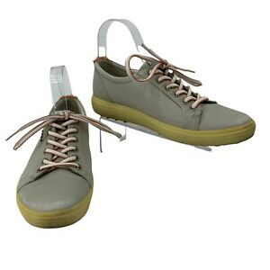 Ecco Hydromax Golf Shoes Women's Size 39 Gray Leather Athletic Lace Up Sneakers