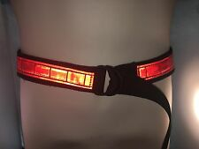 Red Reflective EMT, Paramedic, Rescue Outdoor Sports D- Ring Belts Large