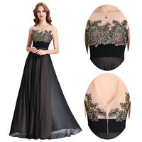 Long Vintage Bridesmaid Dress Formal Gown Party Cocktail Evening Prom Dresses UK