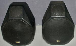 OHM Acoustic Satellite Speakers SAT-2  Black, 4 Ohm, Rare, Vintage.