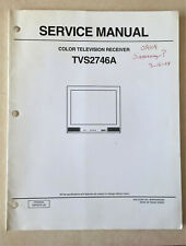 Service Manual Sansui Color Television Receiver TVS2746A