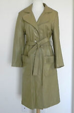 24K Leather by Dan Di Modes Coat Belted Tan tone Pockets Fits M