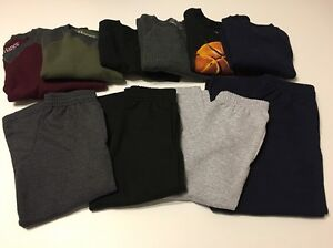 Boys Hanes Sweat Pants Kids Size 4-18 XS S M L XL 2XL Athletic Soft Sweat Shirts