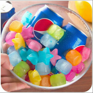 20Pcs Star Shaped Reusable Ice Cubes Picnic Keep Drink Cool Physical Cooling Bar