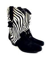 Zebra Cowboy Boots Women's Shoes Women's Boots Heels Rodeo Boots Western Size 9