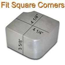 "PONTOON BOAT ALUMINUM CORNER CAP (4-1/4""x 4-1/4""x 3-3/4"" tall)"