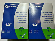 2 x Schwalbe AV1 12 Inch Inner Tube Buggys / Pushchairs 12½ x 1.75 / 12 x 2.00