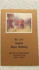 1954 English Super Saddlery Catalog Little Joe Wiesenfeld Co. W/Mailer Horseman