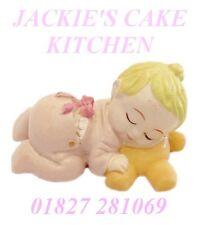 Niñas Bautizo 1er Cumpleaños del bebé nuevo Resina Pastel Cupcake Topper Decoración